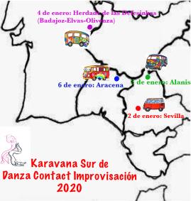 Mapa Karavana Sur 2020